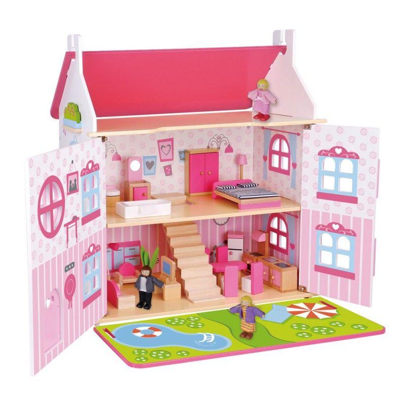 Uitgelezene Bestel Poppenhuis groot (Gebouwen) - houten speelgoed BR-41